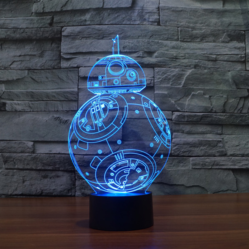 buy 7 Colors change 3D Visual Nightlight Creative Star Wars LED Lamp for Kids Touch Switch Acrylic Table Lamp with USB Line IY803320 pic,image LED lamps deals