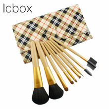 LCBOX Professional 9 Pcs Eye Shadow Brand Makeup Brushes Lip Brush for Makeup with Bag Beauty Essentials Blending Face Eye Brush