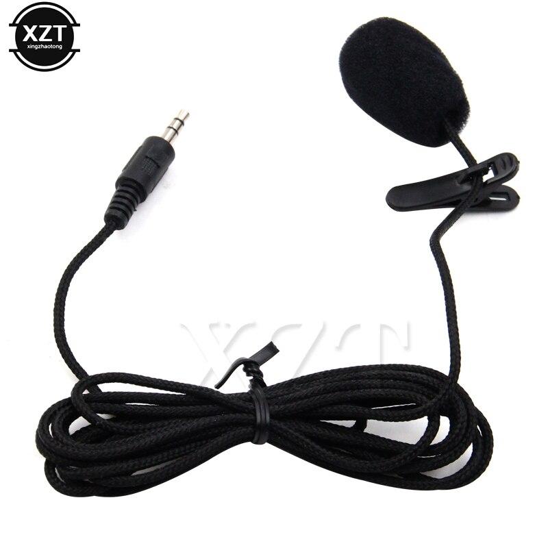 3,5 мм стерео разъем мини автомобильный микрофон для ПК автомобиля говорящая речь лекции микрофон около 2,4 м длинный кабель