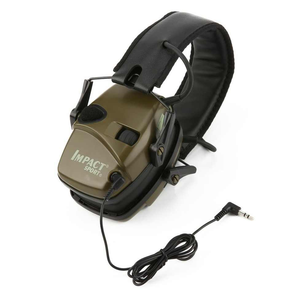 Casque antibruit de tir électronique Sports de plein air Anti-bruit Impact amplificateur sonore casque de protection auditif tactique pliable