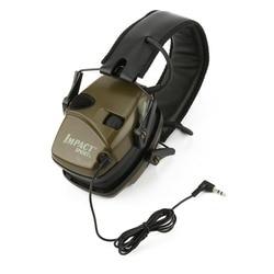 Earmuff tiro eletrônico esportes ao ar livre anti-ruído impacto som amplificação tático fone de ouvido protetor auditivo dobrável