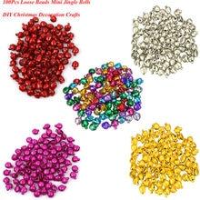 Mini cloches de Jingle, perles en vrac populaires 100 pièces/ensemble, cadeau de noël, artisanat bricolage, 6mm, livraison directe