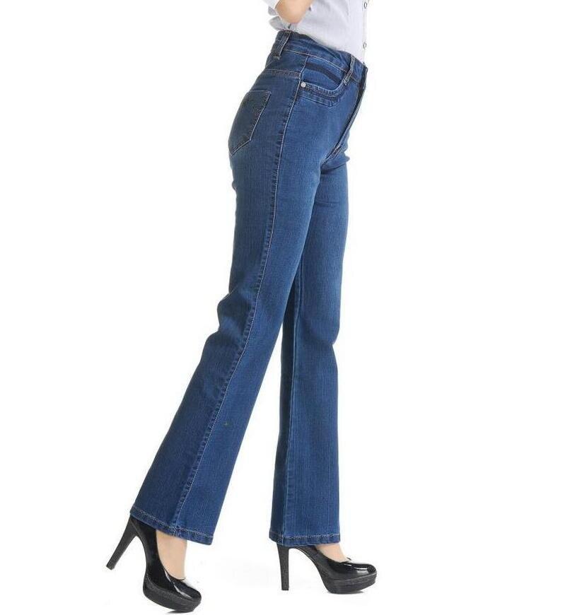 18 High Waist Jeans Women casual Bell Bottom Jeans Female Slim Elastic Flare Pants women denim pants Plus Size 7XL S733 4