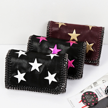 Exclusive luxury shaggy deer women's handbag chain messenger bag five-pointed star small bag