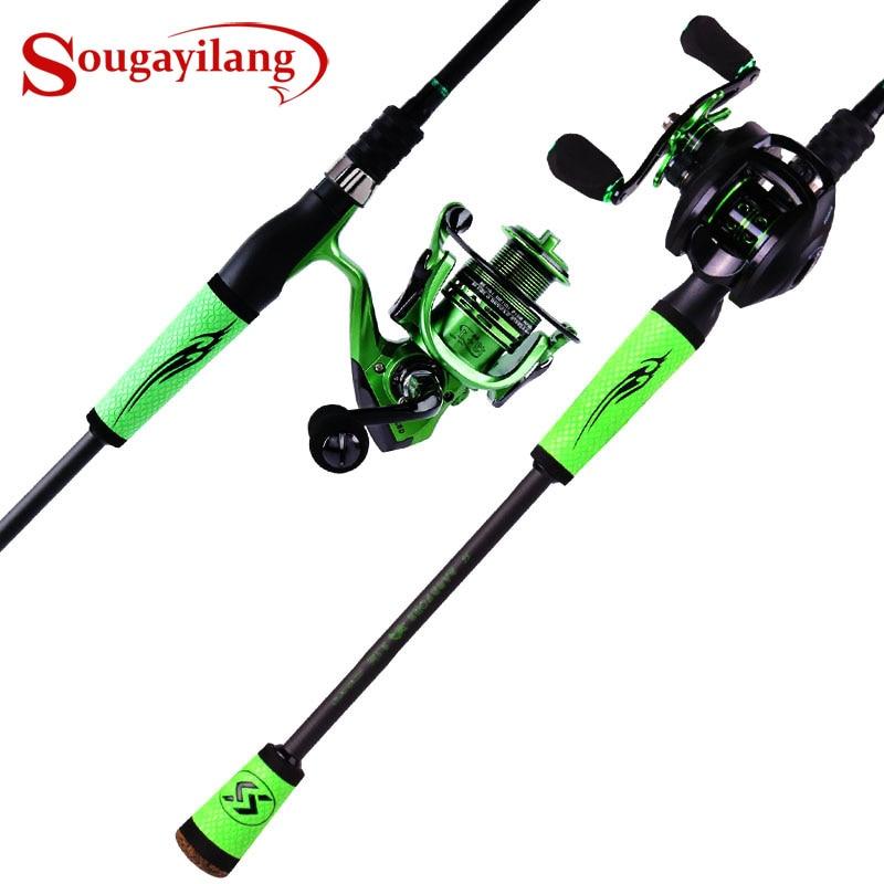 Sougayilang 2019 nouveau filature coulée vitesse cannes à pêche Porable lumière haute teneur en carbone 4 Pc ébauches pour voyage pêche en eau douce|Cannes à pêche| |  -