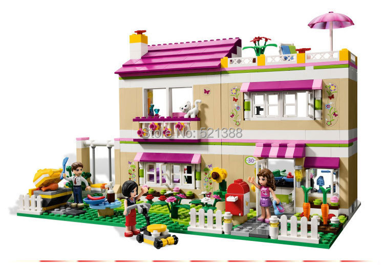 DIY Educational Toys for children CHINA BRAND S701 self-locking bricks Compatible with Lego Friends Olivia's House 3315 china brand l0090 educational toys for children diy building blocks 00090 compatible with lego
