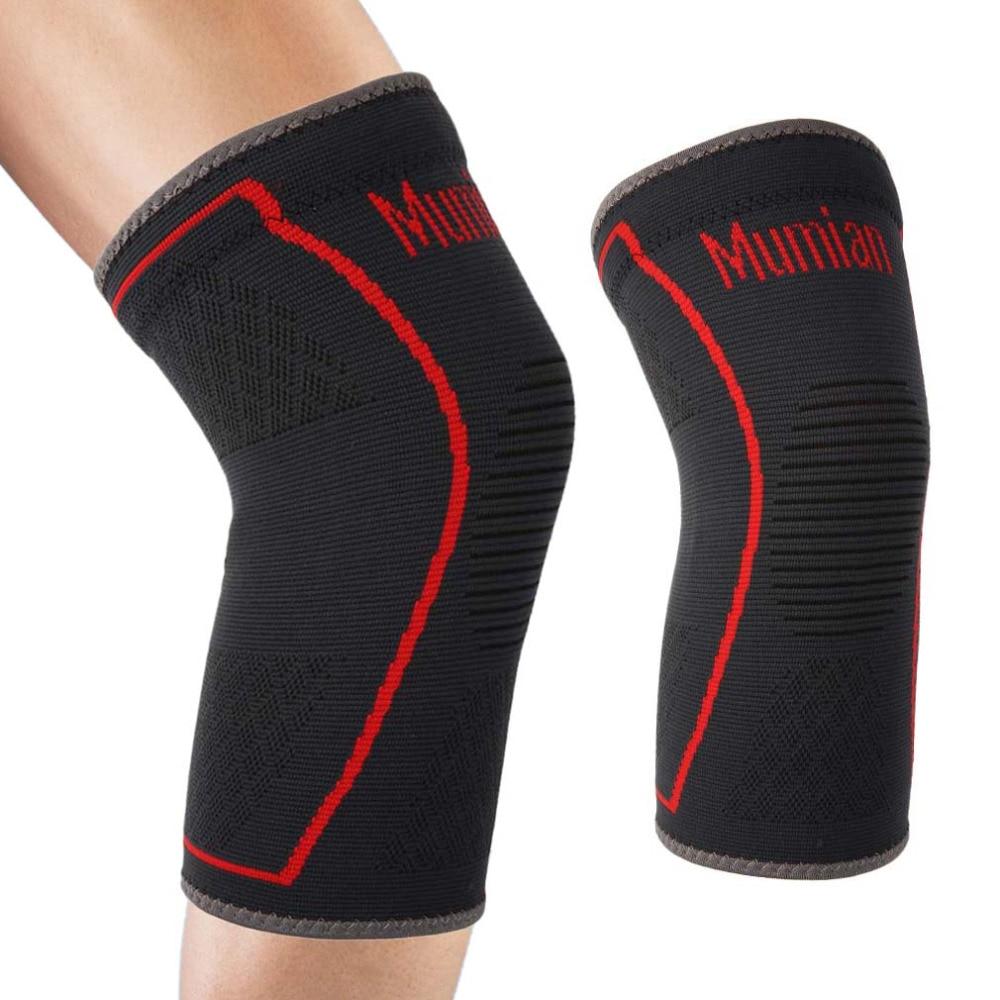 MUMIAN Elastic Sports Leg Knee Support Brace Wrap Protector Leg Compression Safety Pad Sleeve Patella Guard Knee Pad Bandage Hot