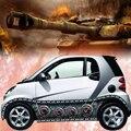 Стайлинга автомобилей 3D автомобиля Стикеры Авто танк тела цепи Стикеры s виниловые наклейки Обёрточная бумага изменить Цвет фильм чехлы ав...