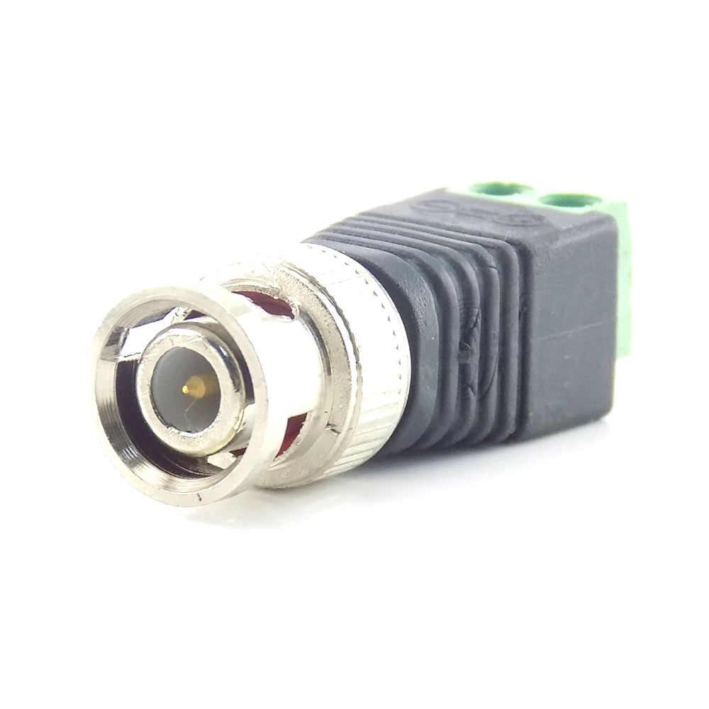 1/4/10pcs DC BNC ตัวเชื่อมต่อชายการเฝ้าระวังปลั๊กอุปกรณ์เสริมวิดีโอ Balun ระบบความปลอดภัยอะแดปเตอร์ COAX CAT5 สำหรับกล้องวงจรปิด
