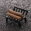 Hot Sale 1Pcs Miniature Firewood with holder 1/12 Scale Doll house Furniture Figurines Ornaments Gadget Doll Toys Kid Toys Gifts