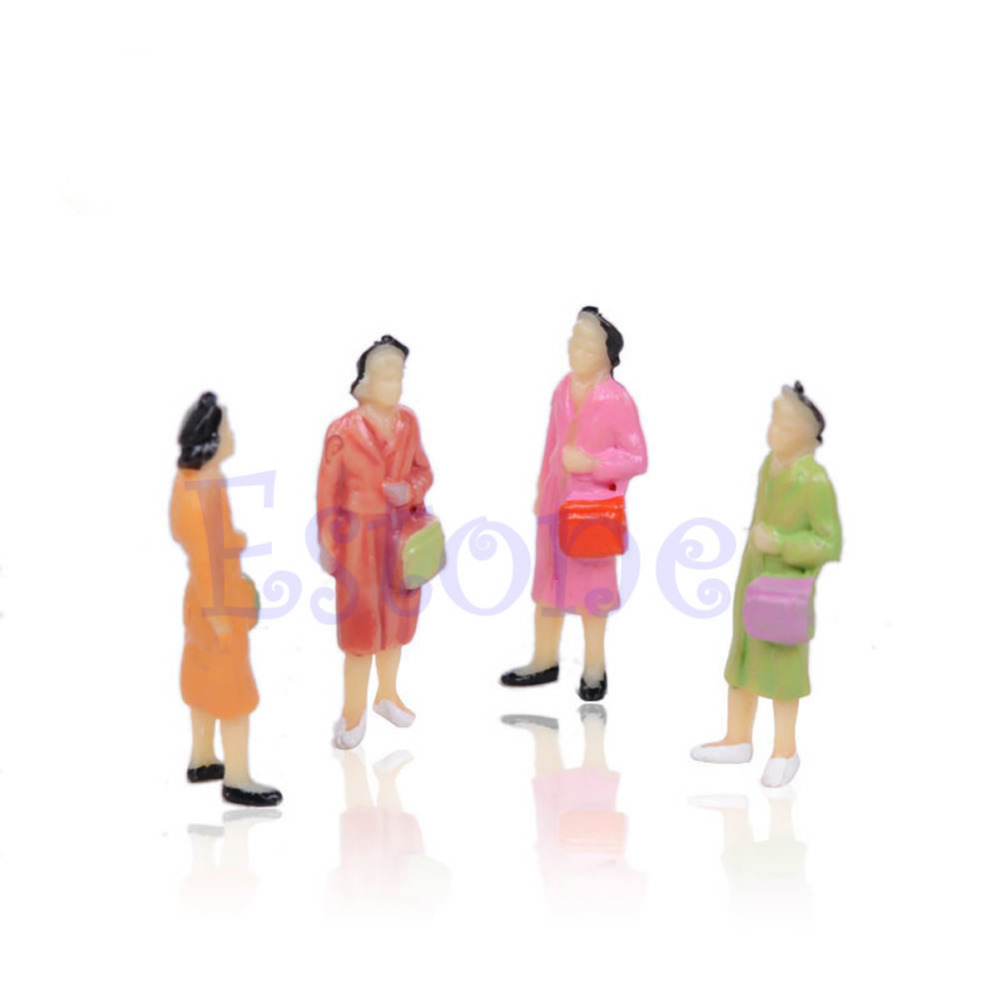 Nice-100x-1100-Building-Layout-Model-People-Train-HO-Scale-Painted-Figure-Passenger-4