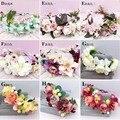 De las mujeres de La Boda Guirnalda De La Flor diadema Kids Party guirnaldas Florales Cinta Ajustable flor corona Fotos de Estudio Accesorios Para el Cabello