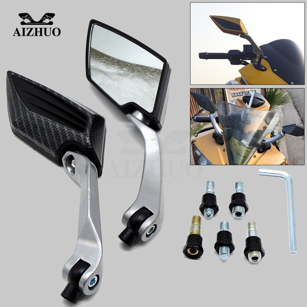 Motorcycle Rearview Mirror Universal Motor Accessory Plastic Side Mirror For <font><b>Benelli</b></font> Bj250 Bj300gs <font><b>Bj500gs</b></font> BJ300 Tnt899 Trk502 image