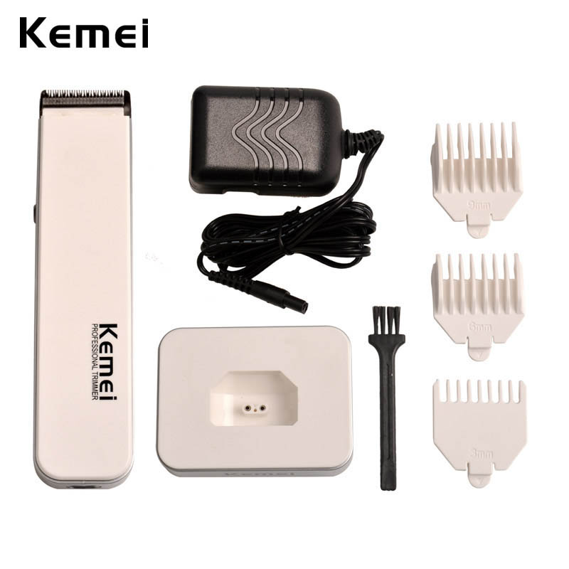 110-240V Mens White Rechargeable Hair Trimmer Hair Clipper Hair Scissor Hair Cutting Machine tondeuse cheveux Wholesale 3839 beard trimmer hair clipper tondeuse hair cutting machine tondeuse cheveux professionnelle professional barber clippers
