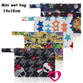 NEW ! 1PC Reusable Waterproof Mini Small Wet bag Pouch For Menstrual Pads Nursing Pads Stroller,Makeup,14*18CM,Wholesale Selling