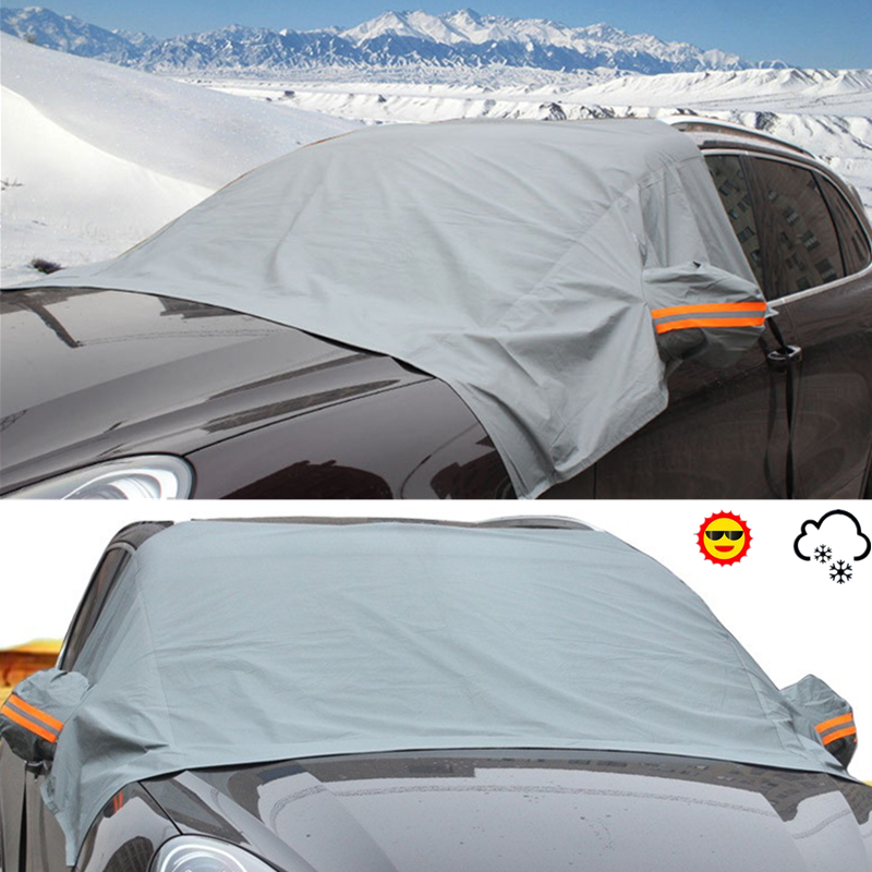 AUTOSON Car Covers Universal Car Sun Shade Snow Protection Covers Car Sunshade Cover Car Accessories For Nissan VW Ford Toyota