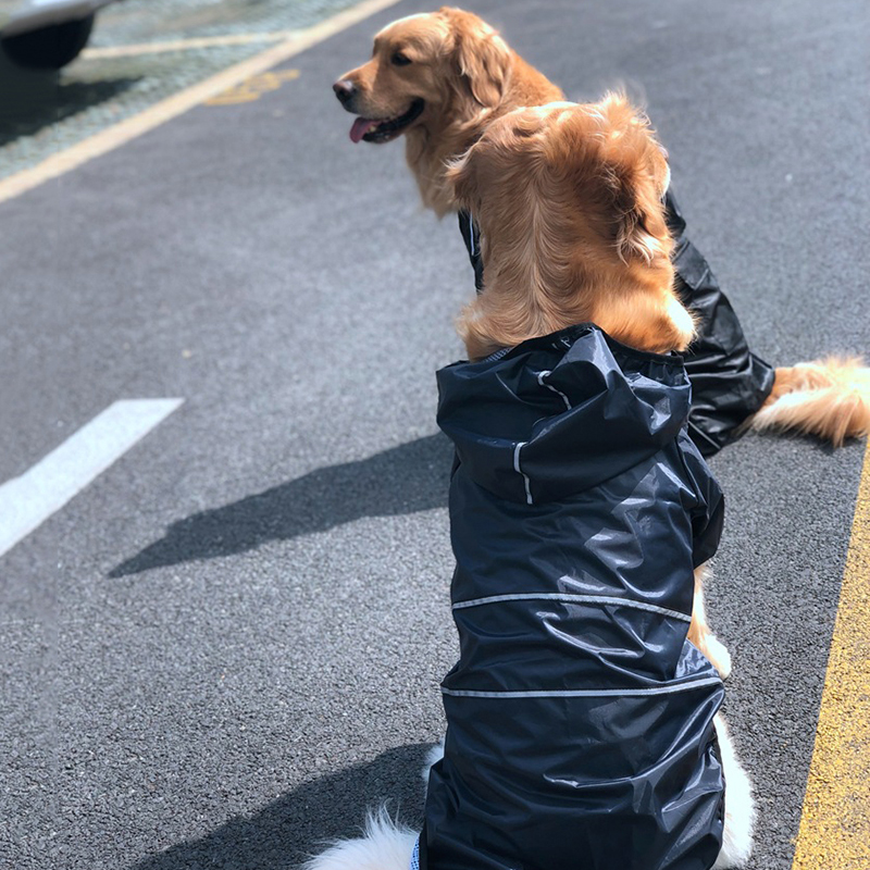 Reflective Dog Raincoat Clothes Waterproof Rain Jumpsuit For Big Medium Small Dogs Golden Retriever Outdoor Pet Clothing Coat