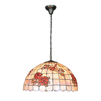 New 18 European Style Roes Dragonfly Pattern Shell Hanging Lights Retro Bedroom Living Room Home Decoration Lamps Fixture PL726