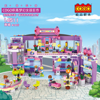 Fun Children S Building Blocks Toy Fantasy Girl Leptin Building Villas Assembled Model Intelligence Education Building