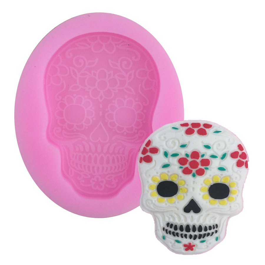 Skull Shape Silicone Cake Mold For Chocolate Sugar