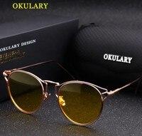 Chất Lượng cao Phụ Nữ Kính Phân Cực UV 400 Bảo Vệ Eyewear Cat Eye Sunglasses Đêm Driving Kính với Gói Ban Đầu