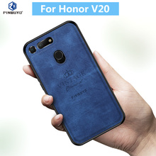 For Huawei Honor V20 Original PINWUYO VINTAGE PU Leather Protective Phone Case for Shockproof