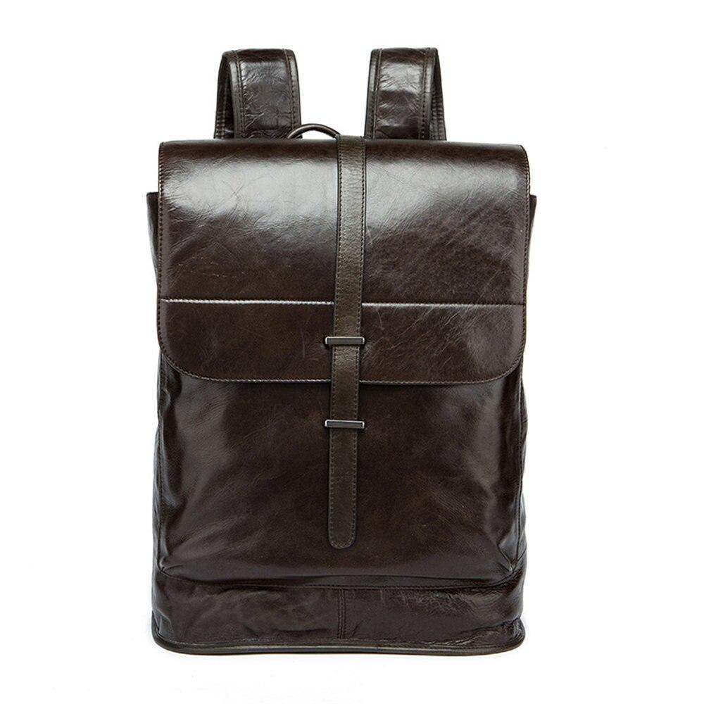 Genuine Leather Men Backpack European Modern Casual Travel School Laptop Backpacks Advanced Big Capacity Daily Rucksack Backpack водораскраска пазл зоопарк pr1057