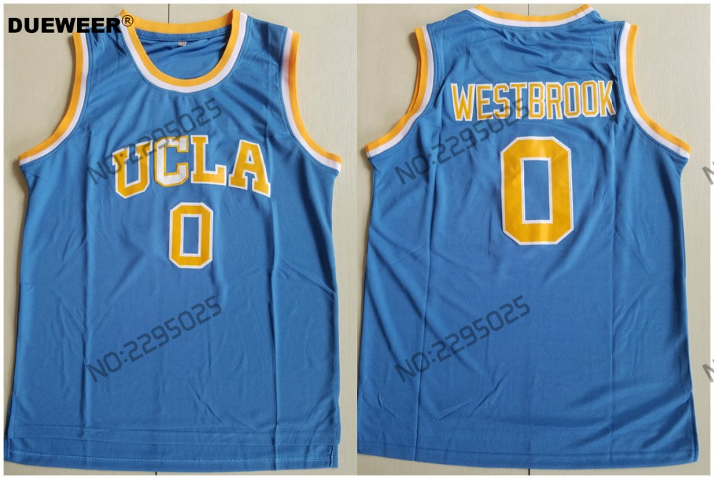 ... clearance dueweer ucla bruins russell westbrook college basketball  jerseys throwback 0 russell westbrook stitched university shirt 7de53e672