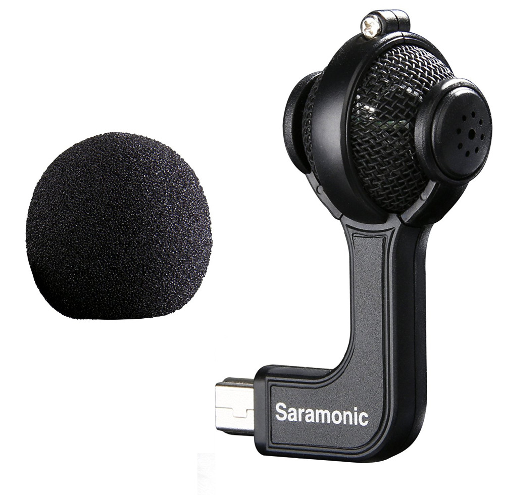 SaramonicG-Mic per Gopro Hero 4 4+ 3+ 3 action sport Telecamere 3.5mm No Noise Mini Stereo Accessori per microfono