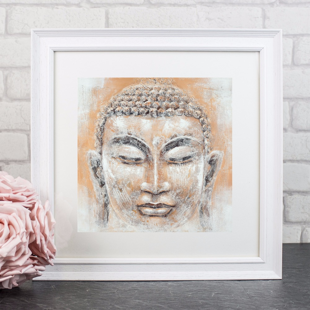 Peaceful Buddha Face Artwork Canvas Art Print Painting Poster Wall Pictures For Room Home Decorative Bedroom Decor No Frame in Painting Calligraphy from Home Garden