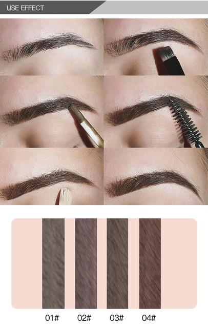 Brand Eyebrow Enhancers Brush Kits Waterproof Henna Eyebrow Gel Black Brown Pigments Liquid Eye Brow Tattoo Tint Makeup Eyebrows 2