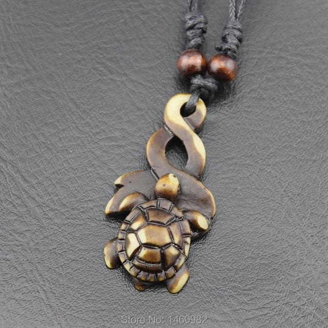 Tribal imitation bone carved maori twist hawaiian honu turtles tribal imitation bone carved maori twist hawaiian honu turtles pendant necklace gift yn464 aloadofball Images