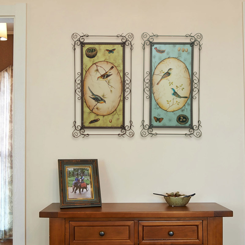 retro wrought iron wall hangings home living room