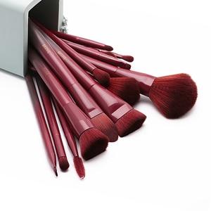 Image 2 - Jessup brushes 15pcs Winered Makeup Brushes Set Powder Foundation Eyeshadow Eyeliner Lip Contour Concealer Smudge Make up Brush