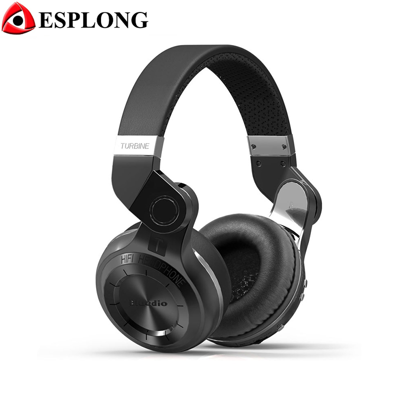 Original Bluedio T2 Bluetooth Headphone Stereo Foldable Earphone BT V4.1 +EDR Noise canceling Wireless Headset With Microphone qiyin bt 990 stylish bluetooth v3 0 edr wireless stereo headset w microphone black silver