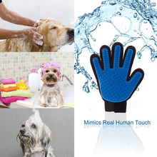 2016 New Pet Bath Brush Glove For All Pets True Touch Deshedding Glove Comb Shedding Hairs Stick Making Pets Hair Cleanup easily