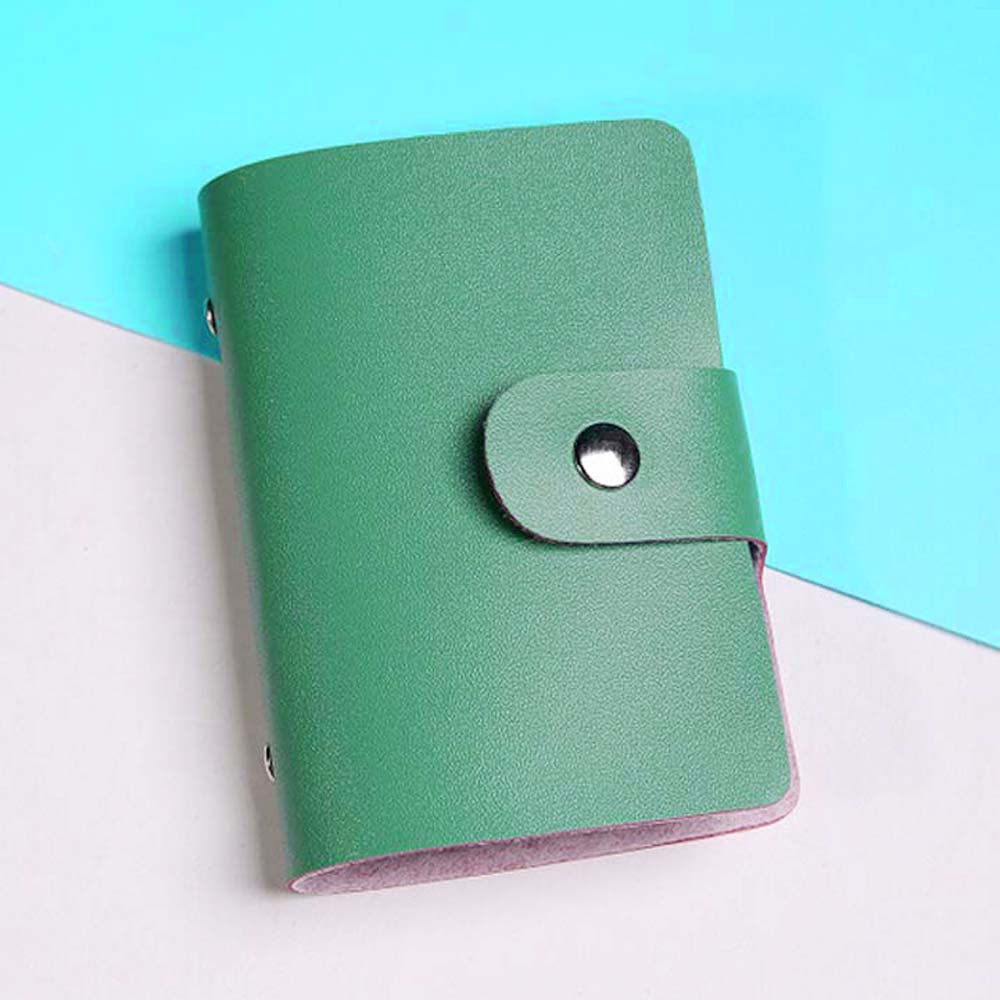 Card Holder Mini Wallet Men Women 12 Colors Leather Credit Cards ...