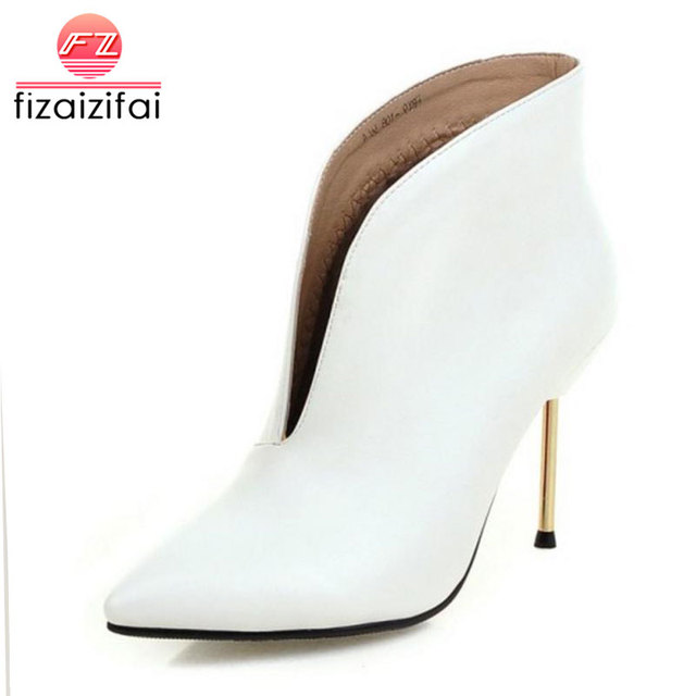 Women Sexy Pointed Toe Ankle Boots Ladies Thin High Heel Botines Mujer New Fashion Party Court High Heel Shoes Woman Size 32-43
