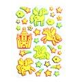 2 листов 60 шт. Новый Светящийся тучный Пони Наклейки Glow в Темноте Светящиеся наклейки Pegasus лошади и звезд наклейка дети игрушки