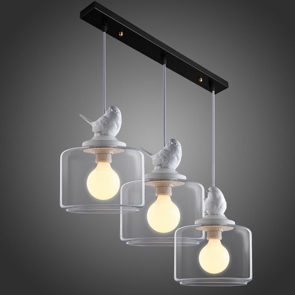Cord hanglampen moderne enkele kop kleine vogel hanger lampen 3 stksset bar vintage lamp