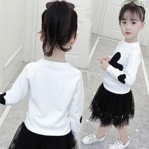 Image 5 - 소녀를위한 새로운 여자 스웨터 인쇄 스웨터 봄 아이 옷 십대 소녀 상위 10 대 소녀를위한 어린이 의상 6 8 12 년