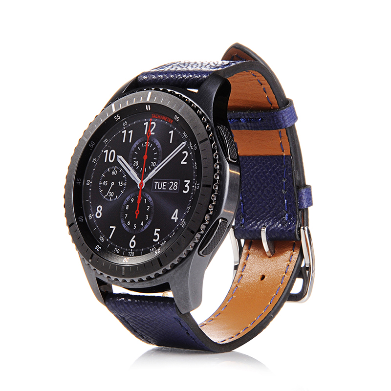FOHUAS Genuine Leather Wrist Strap For Samsung Gear S3 Frontier Silicone Watch Band For Samsung Gear S3 Classic Bracelet Band 22