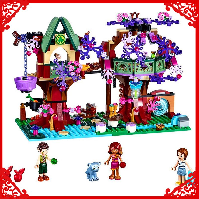 органайзер для проводов hideaway средний белый коричневый 1228054 BELA 10414 Elves The Elves Treetop Hideaway Building Block 507Pcs Educational  Toys For Children Compatible Legoe