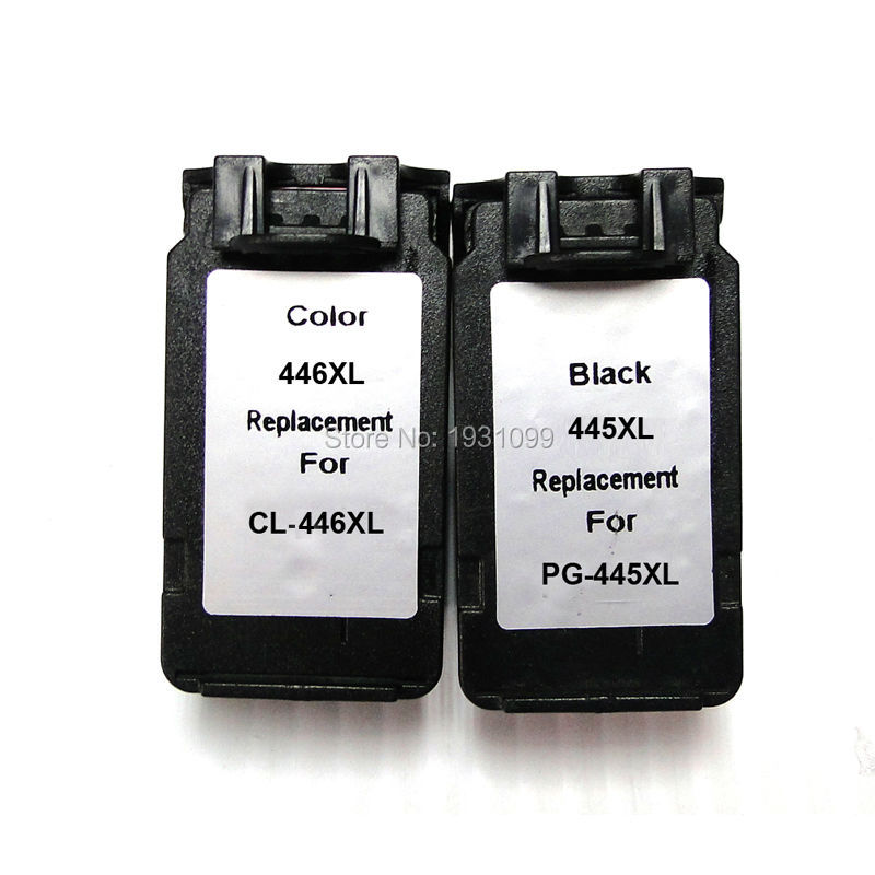 1set Remanufactured PG445 PG-445 PG445XL Ink Cartridge  PG-445XL CL-446XL for Canon IP2840 MX494 MG2440 MG2540 MG2940 free shiping for isuzu d max black front