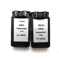 YOTAT 1set Remanufactured Ink Cartridge PG445XL PG445 CL446for Canon IP2840 MX494 MG2440 MG2540 MG2940