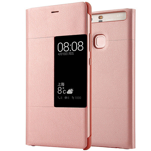 promo code ce610 556a9 US $3.34 33% OFF Luxury PU Leather Flip Case For Huawei P9 plus Original  Style View Window Cover Mobile Phone Smart Flip Case for Huawei P9 plus-in  ...