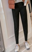 women pants leather Suede Harem Women sweatpants streetwear casual Autumn  winter trousers