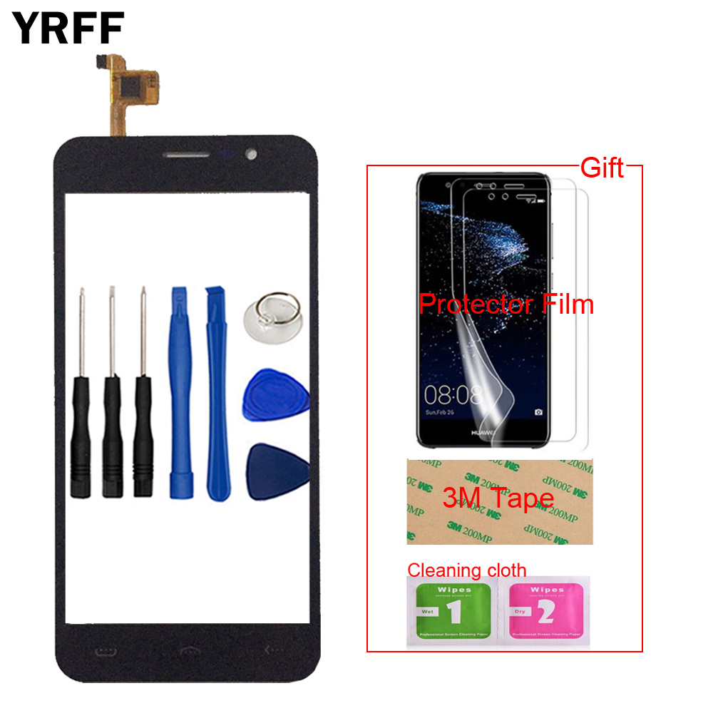 5.0'' Mobile Touch Glass TouchScreen For Homtom HT16 HT 16 Touch Screen Front Glass Digitizer Panel Sensor Tools +Protector Film