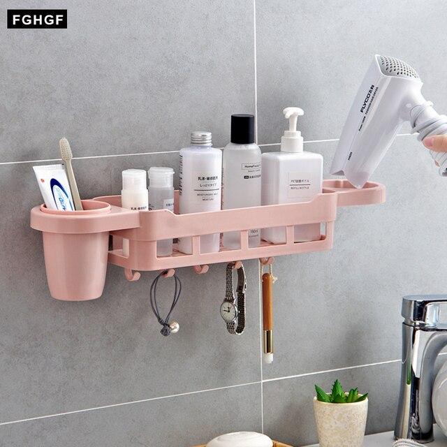 bathroom shelves plastic makeup organizer box for kitchen towel