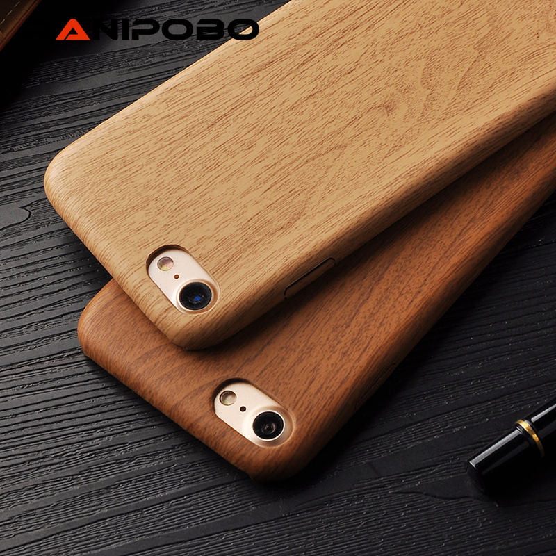 Wooden Pattern Soft TPU Cover For iPhone 7 7plus 6 6S Plus Case Wood Grain Soft Back Shell